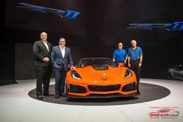 Chevrolet Corvette ZR1 2019 презентация