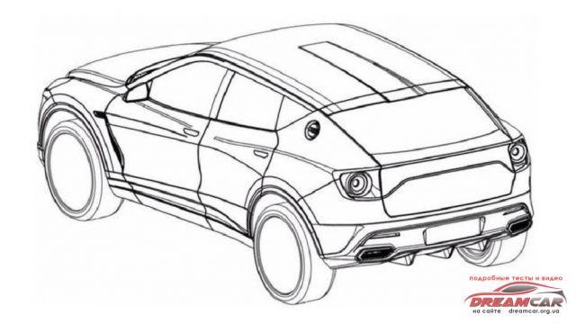 Патентный чертеж внедорожника Lotus