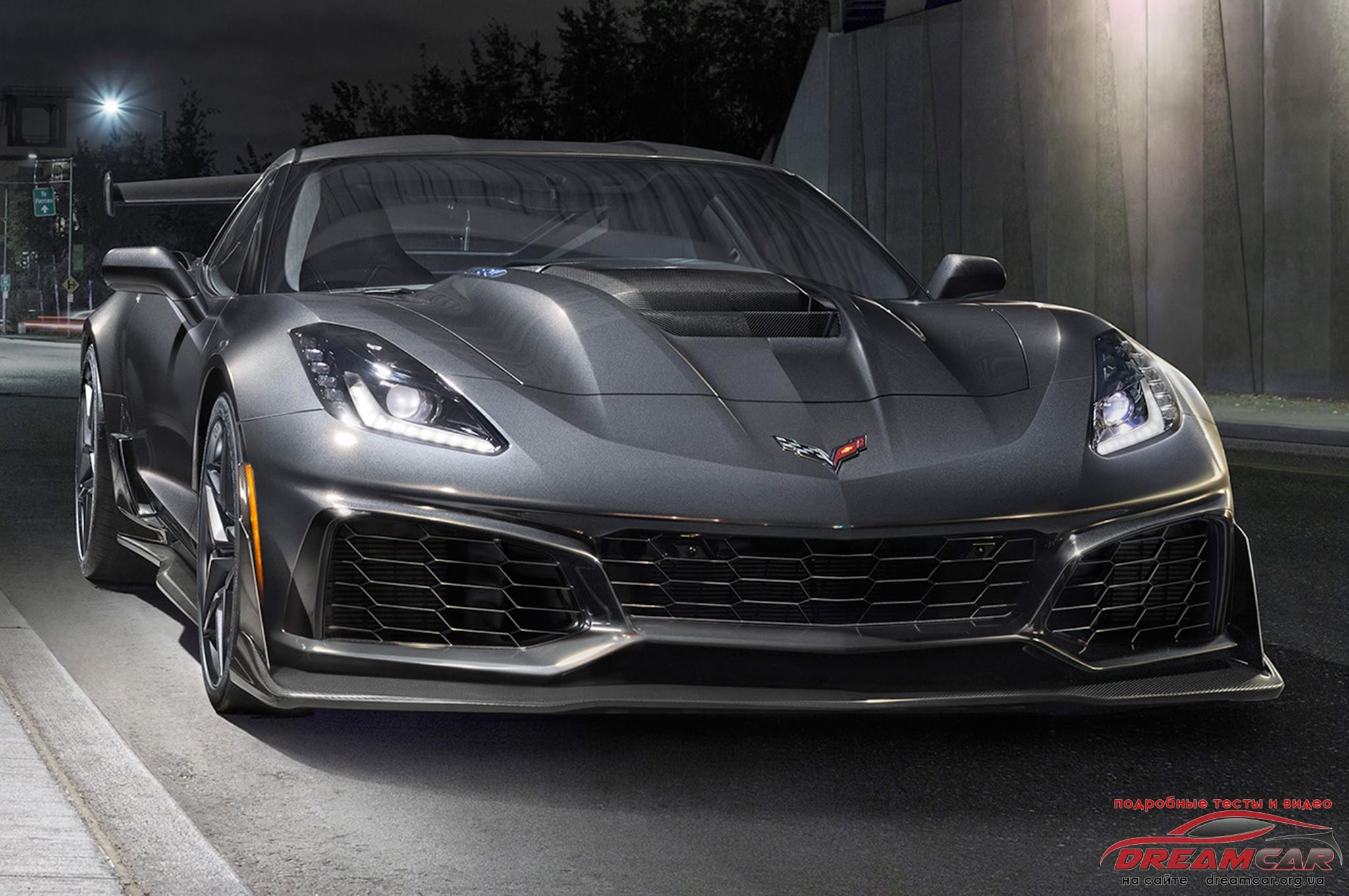 Chevrolet Corvette ZR1 2019 передняя часть