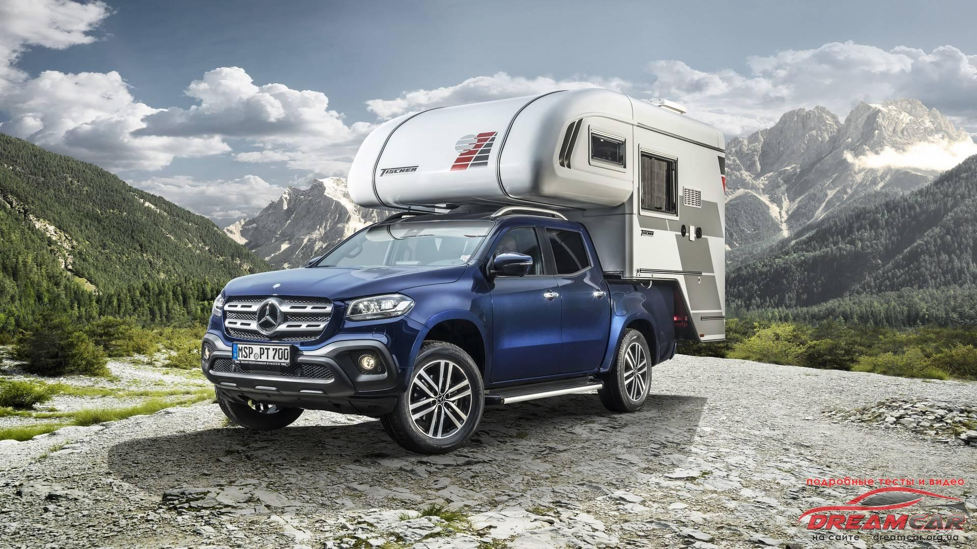 Erste Reisemobilkonzepte auf Mercedes-Benz X-Klasse Basis: Absetzkabine von Tischer First camper van concepts on Mercedes-Benz X-Class base: demountable cabine by Tischer